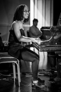 Annette playing piano at Jazznights Will Gaines' Tribute evening, 2013