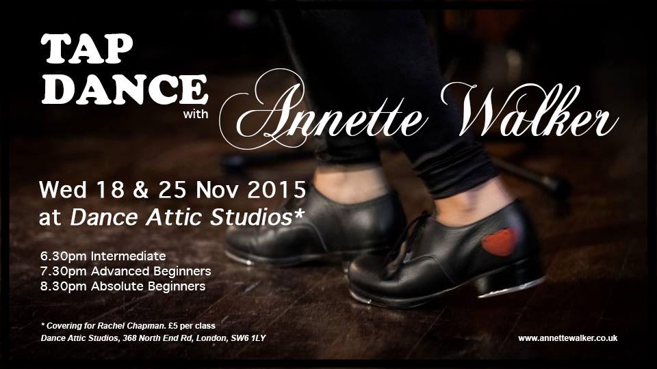 Tap Dance Classes November 2015 Annette Walker